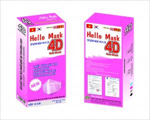 Khẩu Trang 4D Hello Mask Màu Hồng